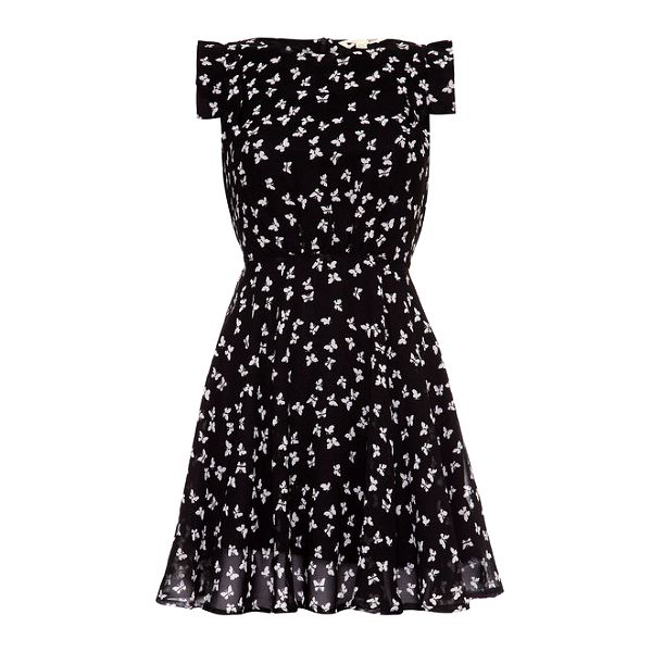 Slevomat  Dámské černé šaty s motýlky Yumi - Skrz.cz e4acf77554d
