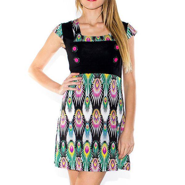 Dámské barevné šaty s knoflíčky Purple Jam