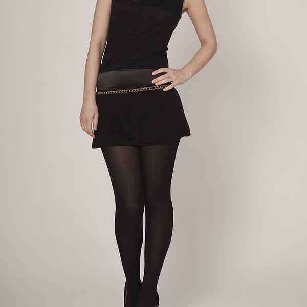 Dámské černé šaty Mell se zlatým řetízkem