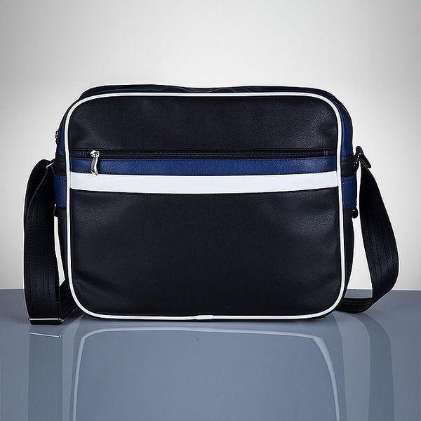 Pánská černá taška s modrými prvky Solier
