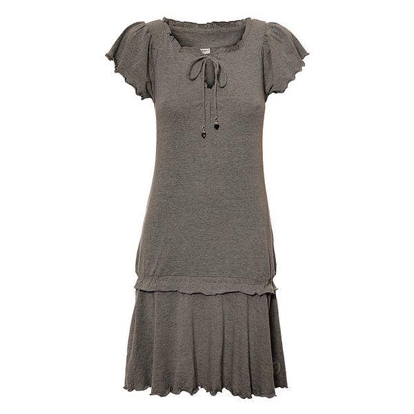Dámské šedé melírované šaty Vive Maria