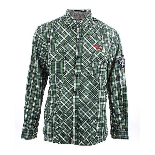 Pánská zeleno-bílá kostkovaná košile Timeout