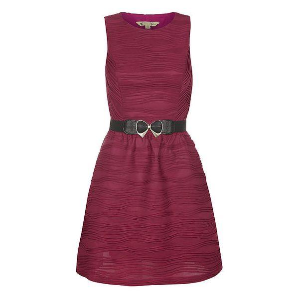 Dámské vínové šaty bez rukávů Yumi