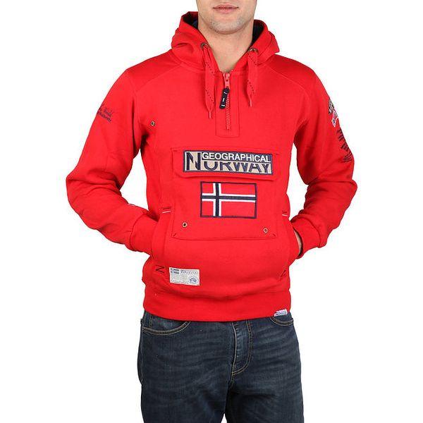 Pánská červená mikina s kapucí Geographical Norway