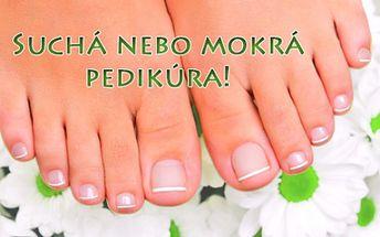 KOMPLETNÍ mokrá či suchá PEDIKÚRA včetně lakování barvou dle výběru a jemné masáže! Užijte si chvíle příjemné relaxace během ošetření a připravte své nohy do sandálů, lodiček a žabek ve studiu Pedirelax u stanice metra Háje!!