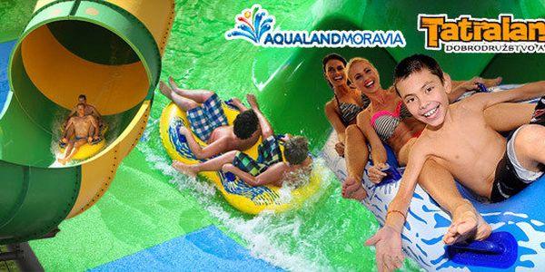 Vstup do 2 aquaparků: Aqualand Moravia a Tatralandia