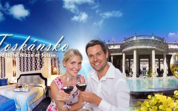 Luxusní dovolená v srdci Toskánska! Hotel GRAND HOTEL NIZZA et SUISSE**** Vám nabízí 6DENNÍ pobyt včetně bohaté POLOPENZE a dalších BENEFITŮ za skvělých 13.090 Kč pro 2 OSOBY! Platnost voucheru 1 ROK!