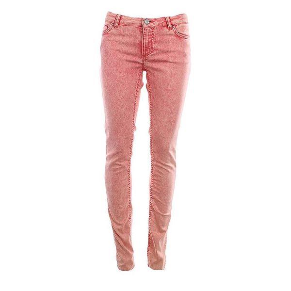Dámské lososové úzké kalhoty Fuga