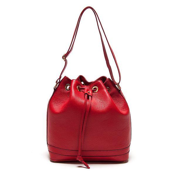 Dámská červená vaková kabelka Roberta Minelli