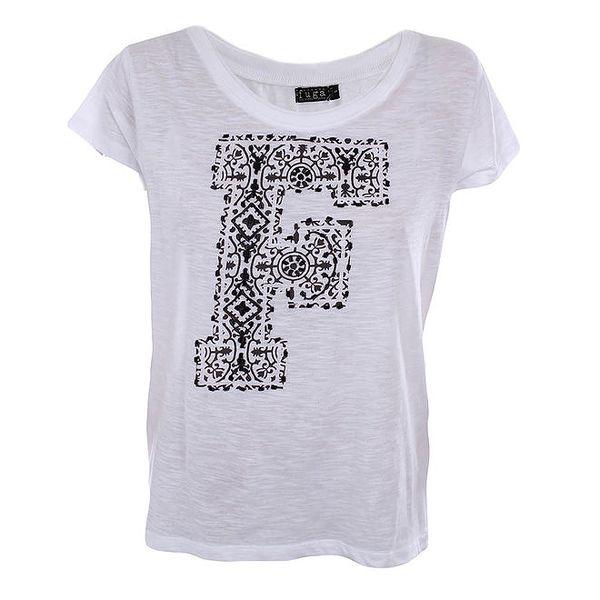 Dámské bílé tričko s černým F Fuga