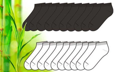 9 párů kotníkových bambusových ponožek za 139 Kč!