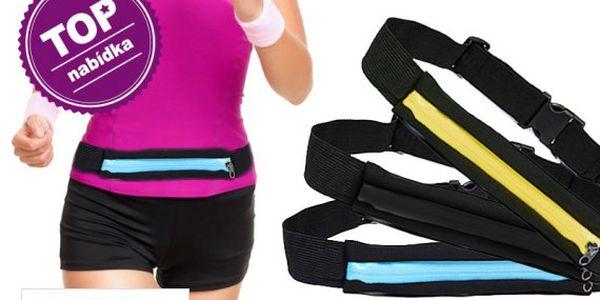Sportovní opasek s kapsou na zip