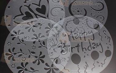 Dekorační šablony na dort - 4 ks v balení a poštovné ZDARMA! - 18904210