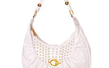 Dámská bílá kabelka Baby Phat se zlatými cvoky ()