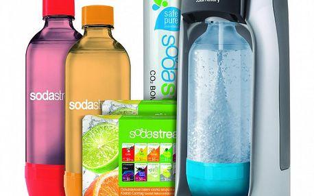 Domácí výrobník sodovky – Sodastream JET TITAN/SILVER MEGA PACK ve výhodném balení