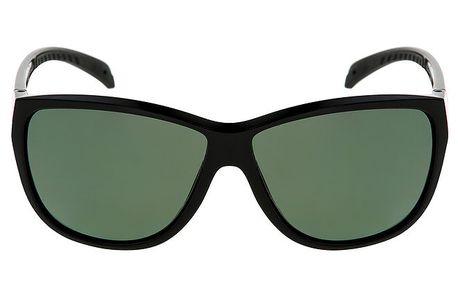 Dámské černé sluneční brýle s logem a zelenými skly Red Bull