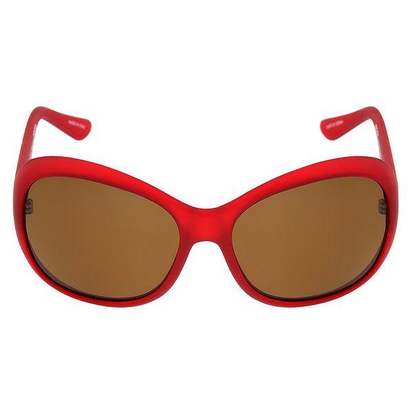 Dámské červené sluneční brýle s hnědými skly Red Bull