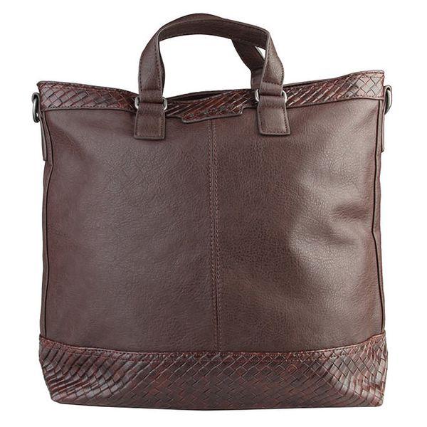 Dámská velká hnědá taška Sisley