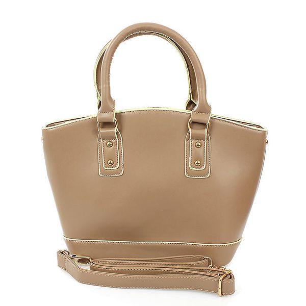 Dámská šedobéžová shopper taška London Fashion