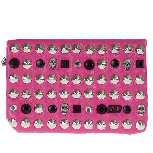 Dámská růžová peněženka s lebkami Miss Sixty