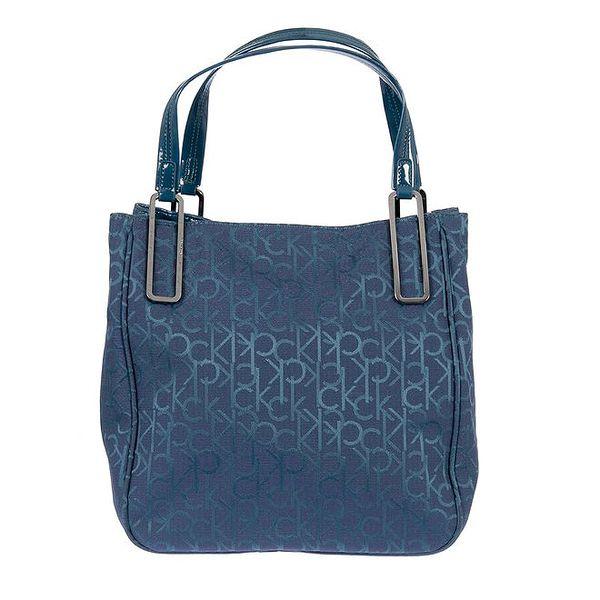Dámská látková modrá taška Calvin Klein s potiskem