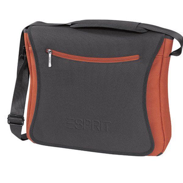 Šedo-oranžová taška přes rameno Esprit