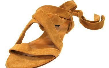 Skořicové semišové sandálky značky Bally