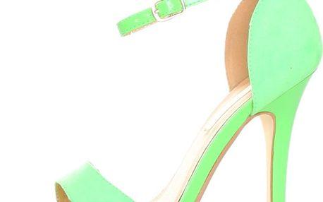 Zelené sandálky s jehlovým podpatkem Ana Lublin