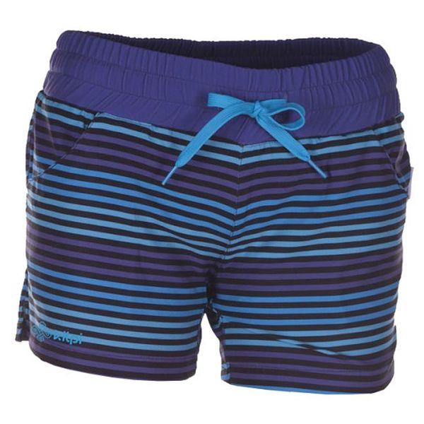 Dámské modře a fialově pruhované šortky Kilpi