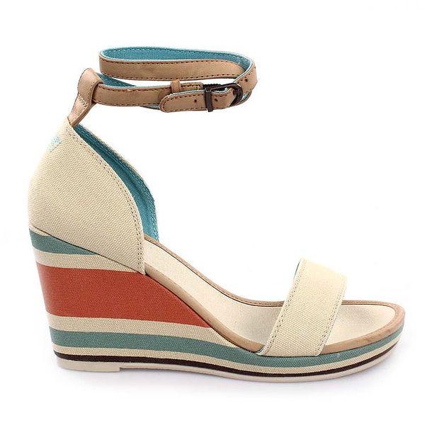 Dámske sandále na pruhovanom kline Levi's