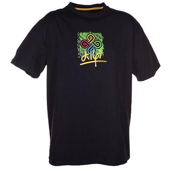 Pánské černé tričko s barevným potiskem Kilpi