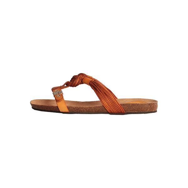 Dámské oranžové sandálky s copánky Dr. Scholl