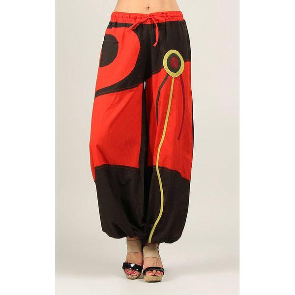 Dámské červeno-hnědé kalhoty Ziva