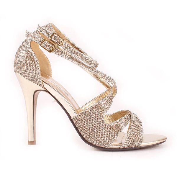 Dámské zlaté sandálky Spot On