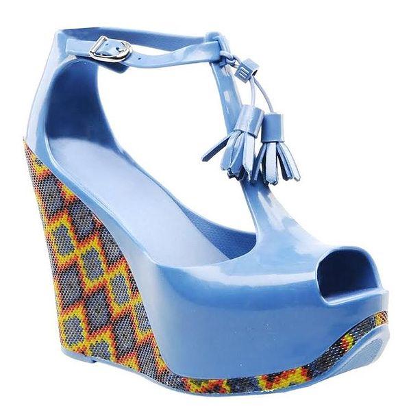 Dámské modré sandálky na platformě Melissa