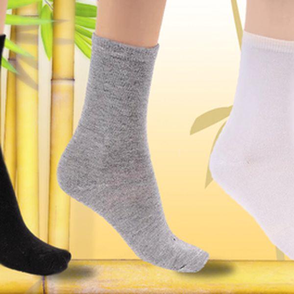 139 Kč za 10 párů dámských bambusových ponožek!