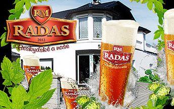 Prohlídka pivovaru Radas s ochutnávkou za 150 Kč! 9 druhů piva!