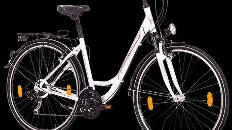 Dámské městské kolo s blatníky a dalším vybavením usnaňujícím pohyb ve městě Life Classic