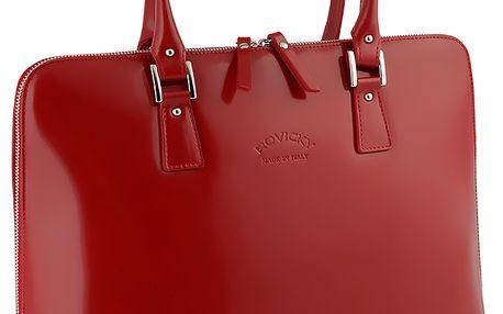 Červená kabelka z kůže Lazio. Dokonalý design a provedení.