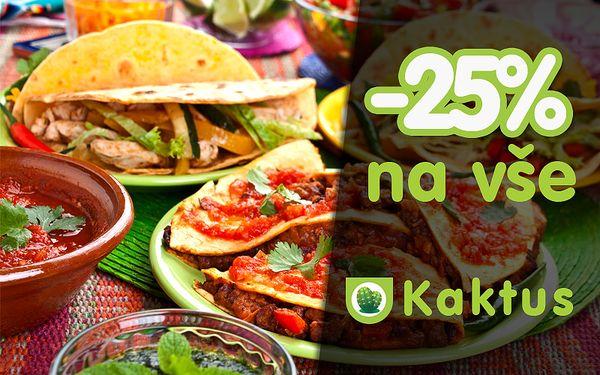 25% sleva na pokrmy v bistru Kaktus