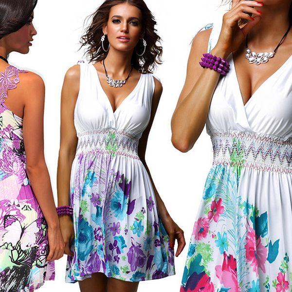 Dámské květované šaty na léto