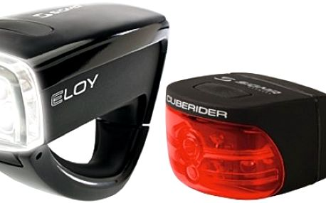 Sada cyklistických bezpečnostních světel Eloy a Cuberider Vás vybaví pro bezpečnější jízdu za šera nebo ve tmě