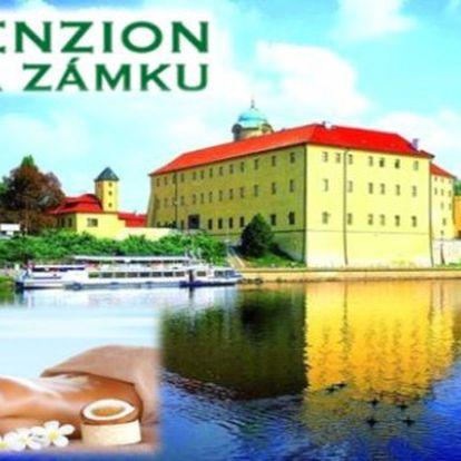 Letní PODĚBRADY i v létě: 3 dny se snídaněmi v Penzionu Na zámku pro 2 a prohlídkou zámku