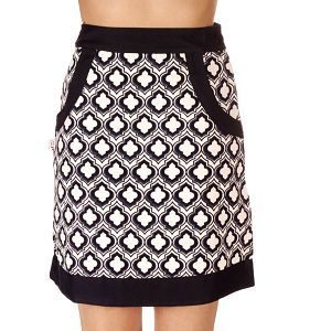Dámská retro černo-bílá sukně Savage Culture