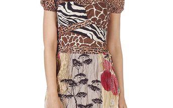 Dámské zvířecí minišaty s mačkanou sukní Savage Culture
