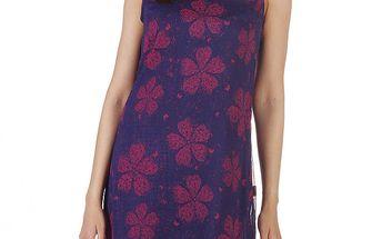 Dámské fialové šaty s velkými květy Savage Culture