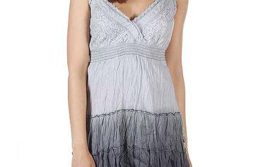 Dámské šedé minišaty s mačkanou sukní Savage Culture