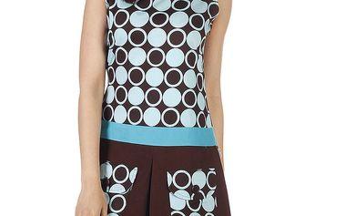 Dámské hnědo-tyrkysové šaty s kapsami Savage Culture