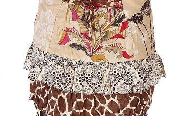 Dámská béžová sukně se zvířecím vzorem Savage Culture