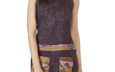 Dámské hnědé šaty s kapsami Savage Culture